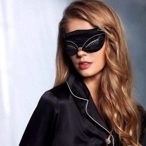 masque de nuit en soie