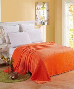 Plaid couleur orange