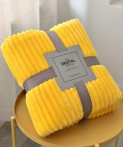 Plaid doux jaune