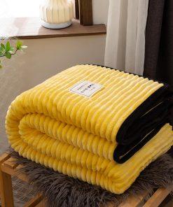 Plaid haut de gamme jaune